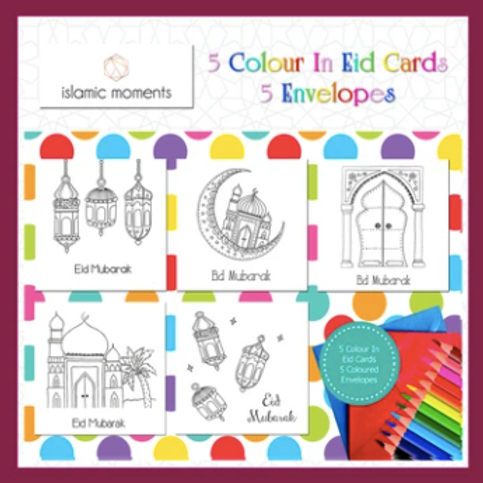 Color In Eid Cards (Set of 5)