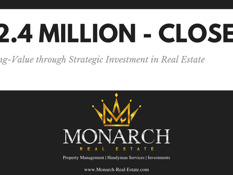 $2.4M Real Estate Deal Closed - First Post!