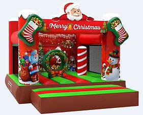 FunHQ Christmas Bouncy Castle