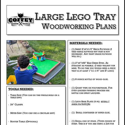 Large Lego Tray Plans