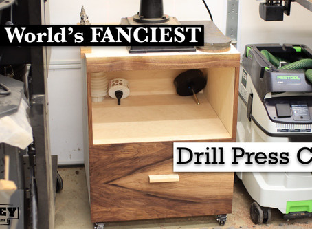 The World's Fanciest Drill Press Cart?