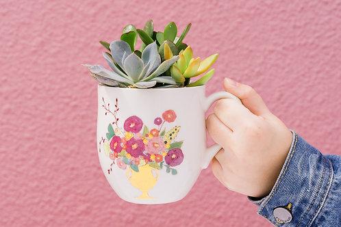 Mother's Day Mug Succulent Arrangement