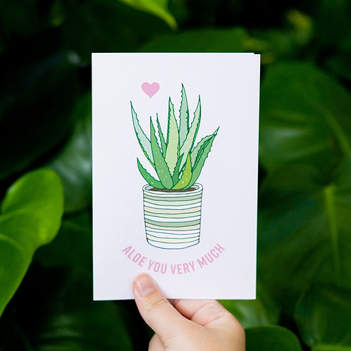 Aloe You Very Much Card