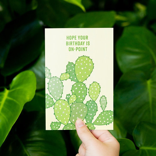 Hope Your Birthday Is On-Point Card