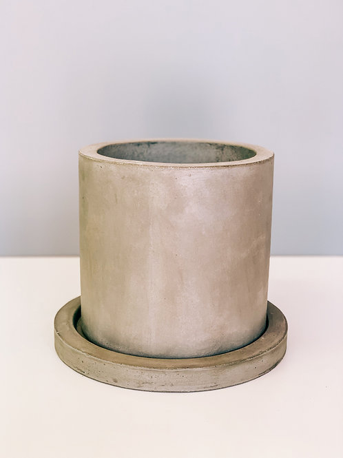 "Grey Concrete Pot 6"""