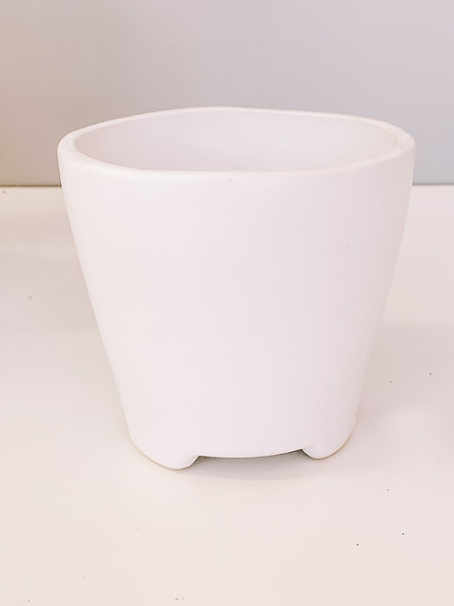 White Classic Tapered Pot