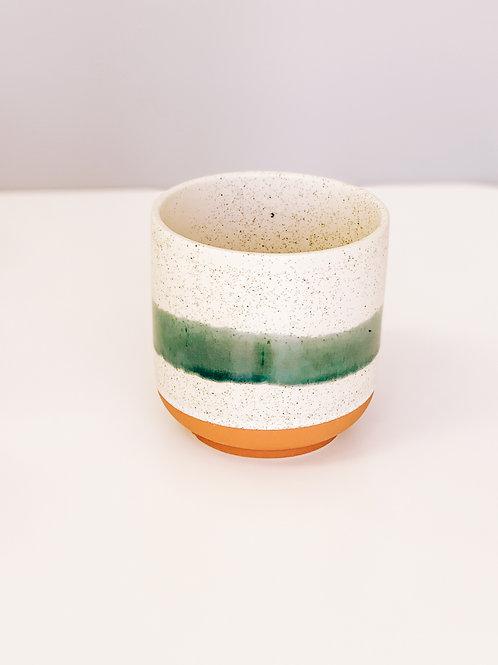 Green Speckle Pot
