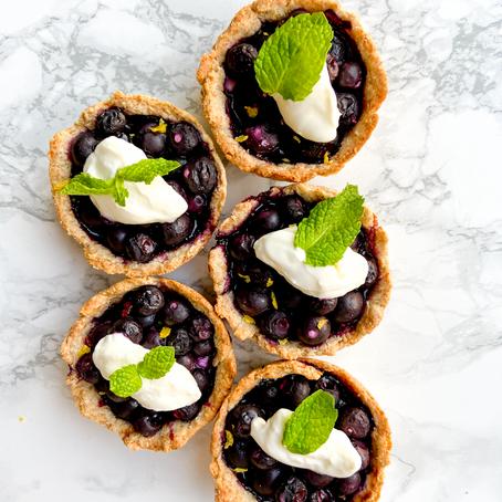 Mini Blueberry Cheesecake Tarts