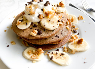 The Ultimate Chocolate Oatmeal Pancakes!