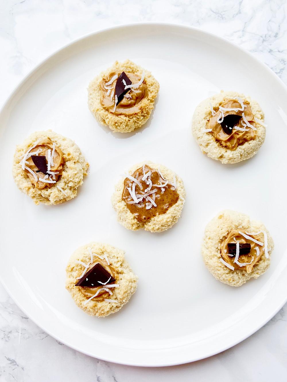 Gluten Free Almond Thumbprint Cookies