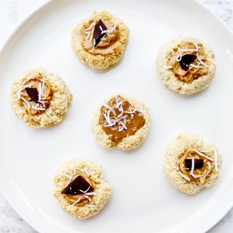 3 Ingredient Almond Thumbprint Cookies