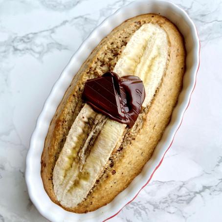 Healthy PB & Banana Baked Oats
