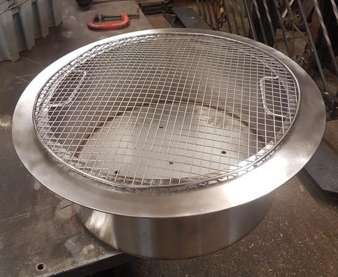 Bespoke stainless steel fire pit insert
