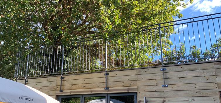 Custom made balcony railings