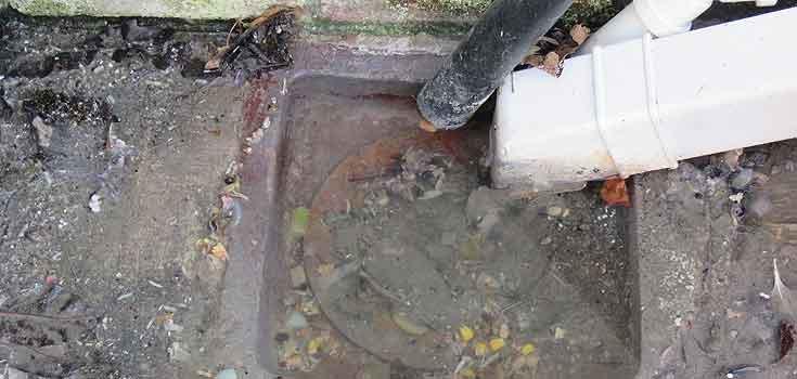 Concrete Blockage in drain - Rhino Rod Drains