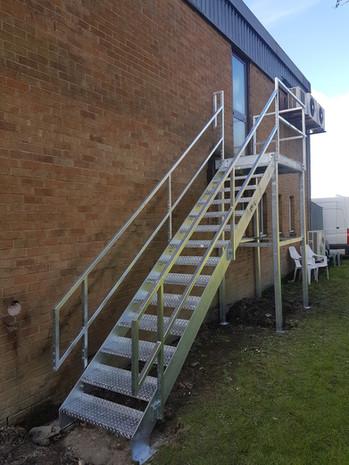 External Fire Escape Welding Railings