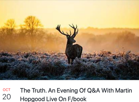 An Evening of Q&A's with Martin Hopgood on 20th October 2019