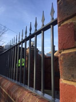 Ornate metal railings