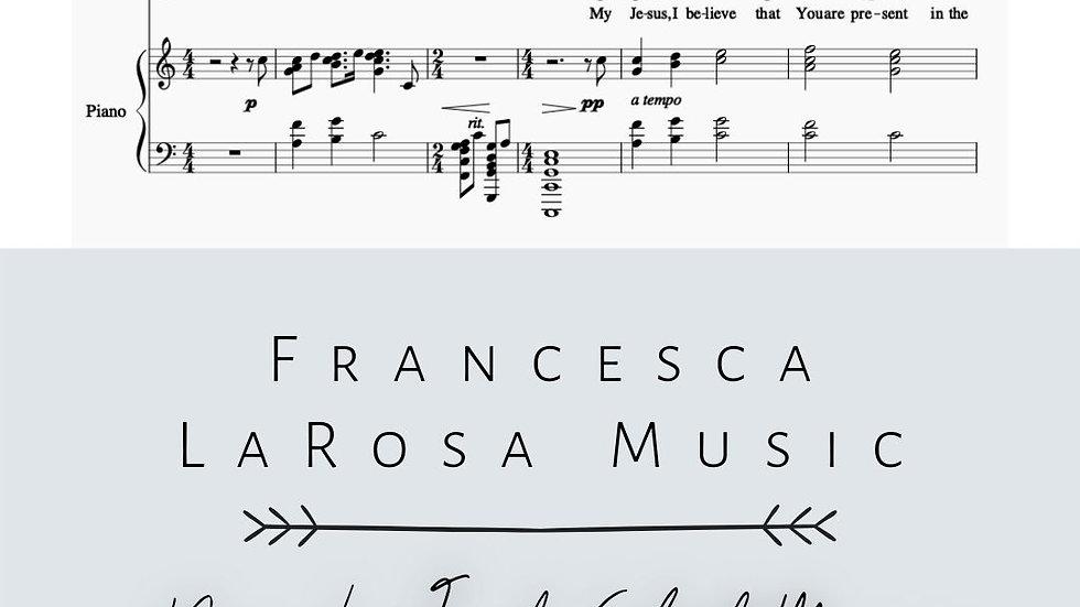 Spiritual Communion Song - Piano Sheet Music