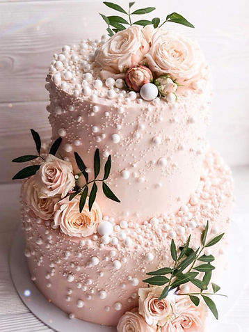 blush and pearl rose wedding cake_edited