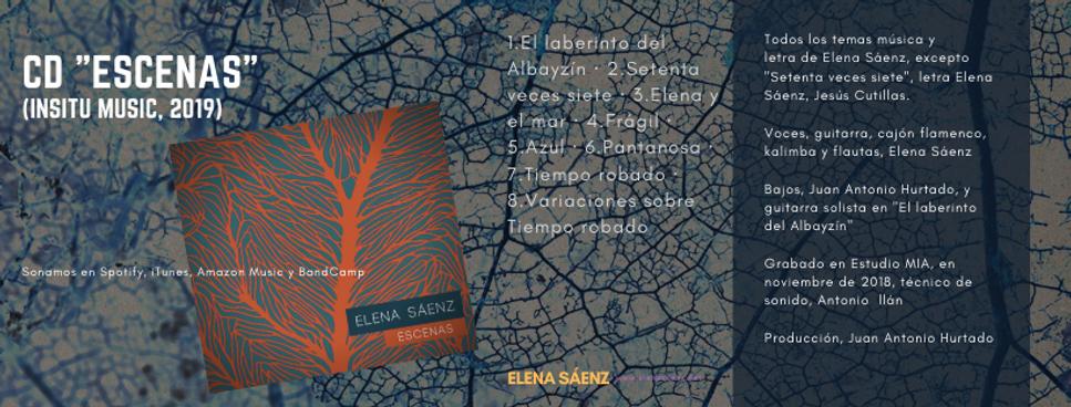 """Disco """"Escenas"""" de Elena Sáenz"""