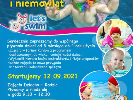 Od 12 września 2021r. rozpoczynamy zajęcia dla dzieci i niemowląt do lat 4.