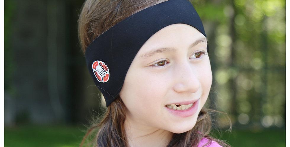 Owli Swimwarm Ear Band, Child - Black