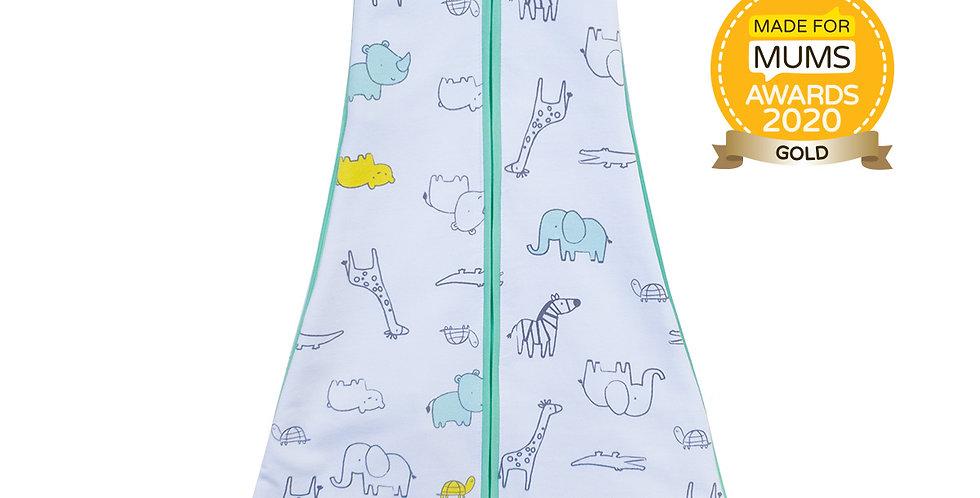 New Owli Sleeping Guru Swaddle/Sleeping Bag 0.5 TOG Zoo Zoo