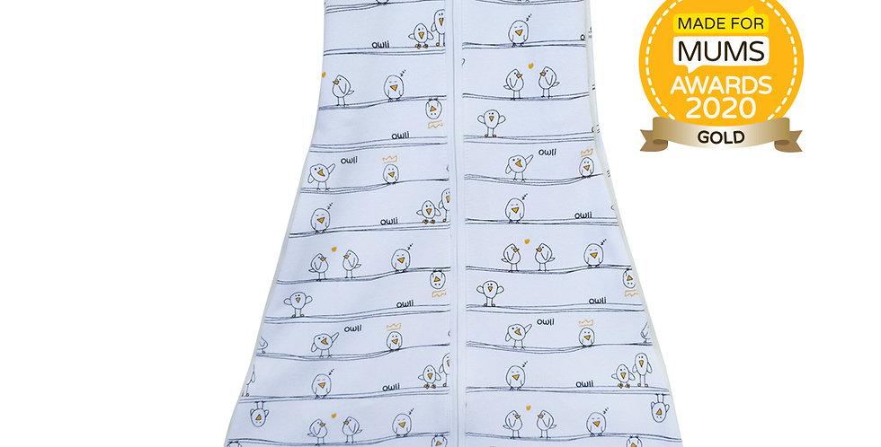New Owli Sleeping Guru Swaddle/Sleeping Bag 0.5 TOG Early Birds