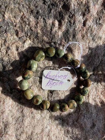 Rainforest Rhyolite Bracelet