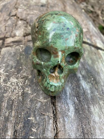 African Jade Skull