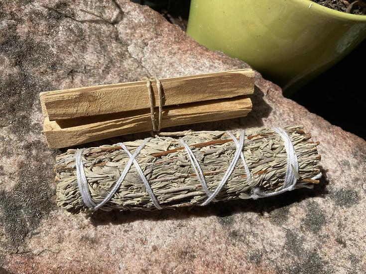 Mugwort & Palo Santo Smudging Kit
