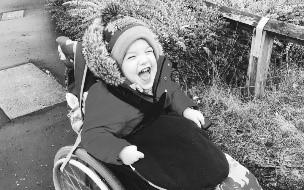 El día de un niño con parálisis cerebral.
