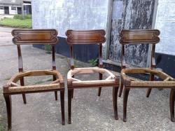 2 Mahogany Dining Chairs +1 New