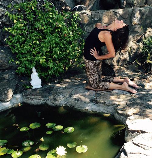 Viki Distin of Cascade Yoga Studio in Camel Pose | Spiritually Speaking | by Sandra Mitchell, Life Coach + Writer