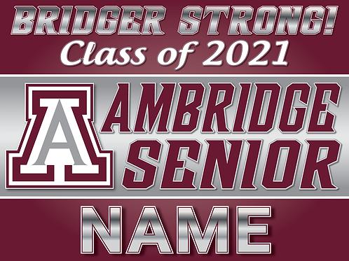 Ambridge Senior Class of 2021 Yard Sign