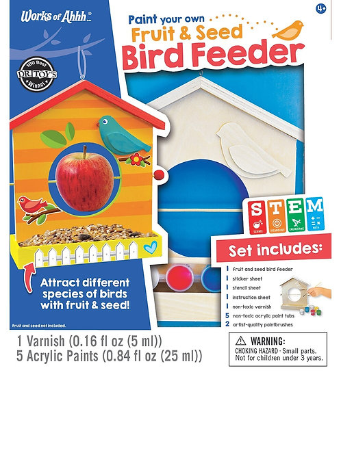 FRUIT & SEED BIRDFEEDER WOOD PAINT KIT