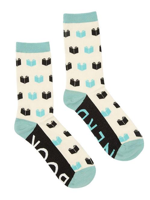 Book Nerd Socks Large