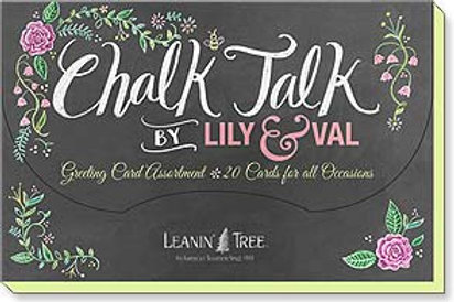 Chalk Talk by Lily & Val (Boxed Greeted Cards 1 each of 20 designs)