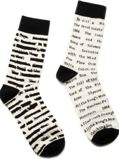 Banned Books Socks Large