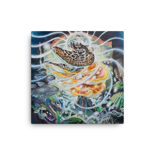 Santa Mycelia Canvas Print