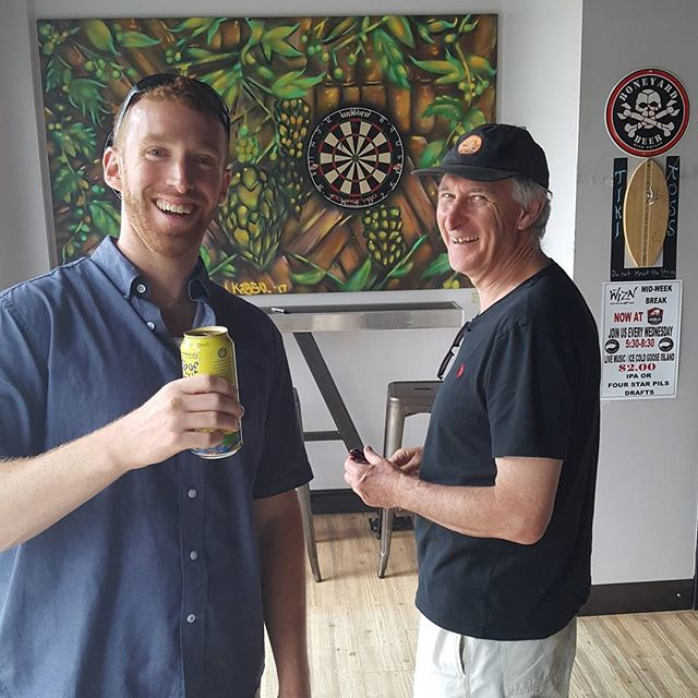 Roaming around town with Uncle Damien and cousin Kyle. Some Darts at Growler Garage, photos with each before hitting Church St