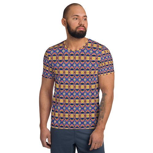Cosmic Egg Pattern Men's Athletic T-shirt