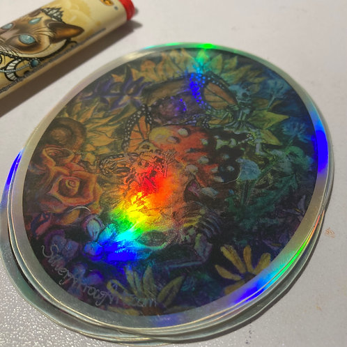 Death Faerie Holographic Sticker