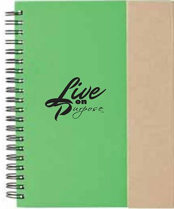 Live on Purpose BLANK Journal
