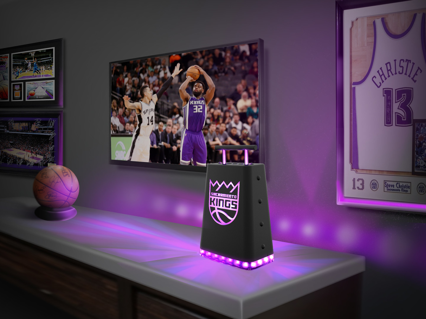 Sacramento Kings Connected Cowbell