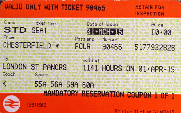 Ticket Train from edinburgh
