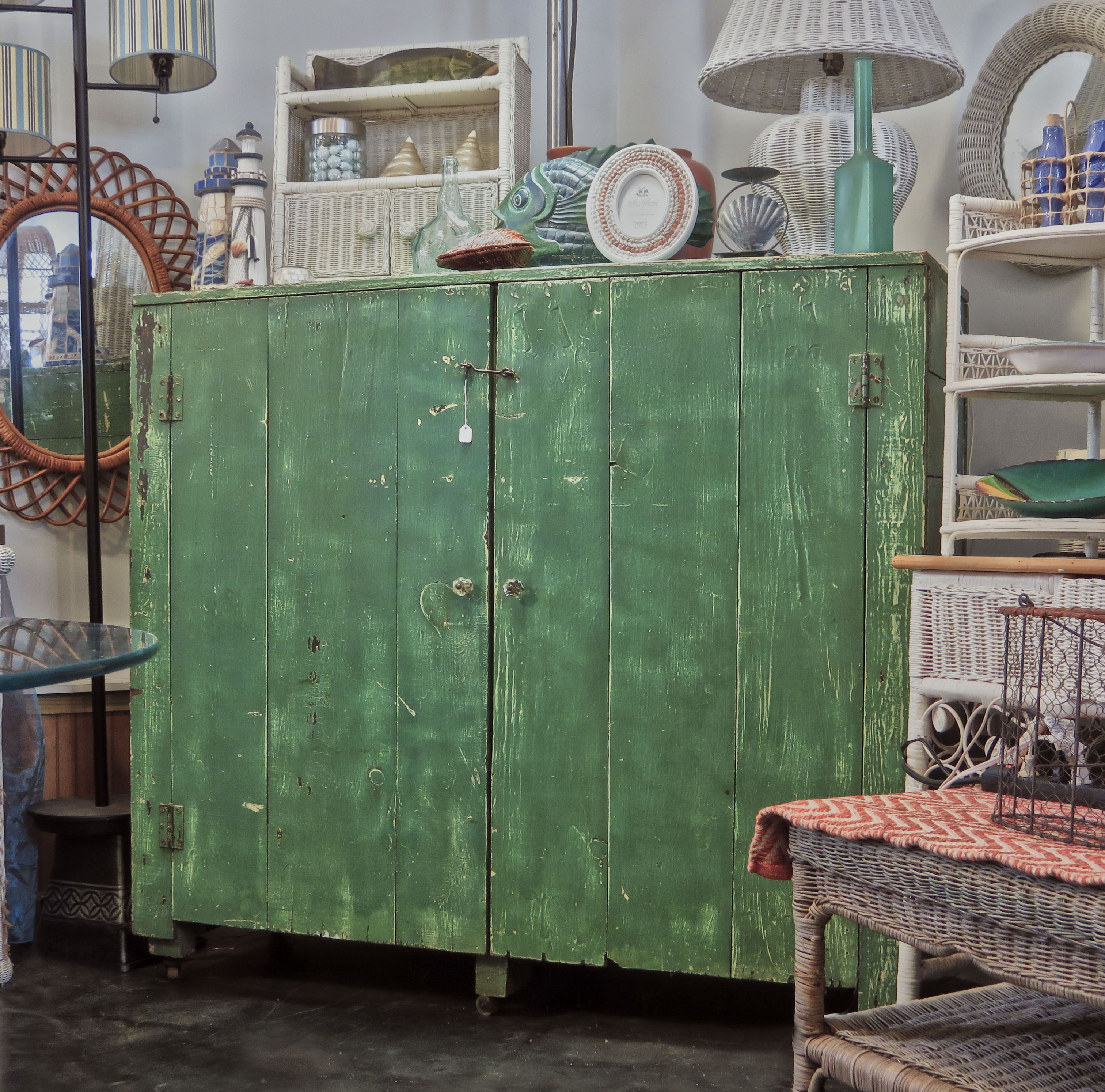 green cabinet