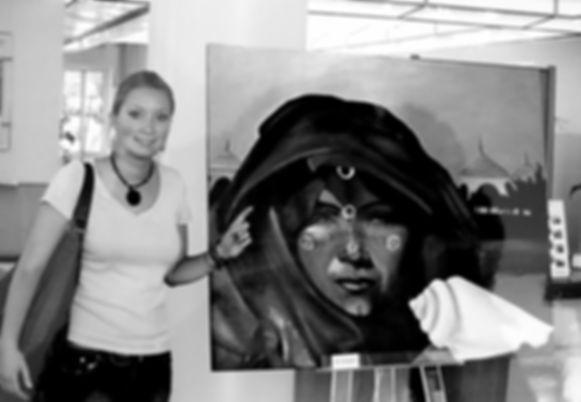 painting exhibition in Raiffeisenbank Gundelfingen, Germany - Mira Kaufmann