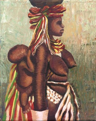 Mère à l'enfant africaine